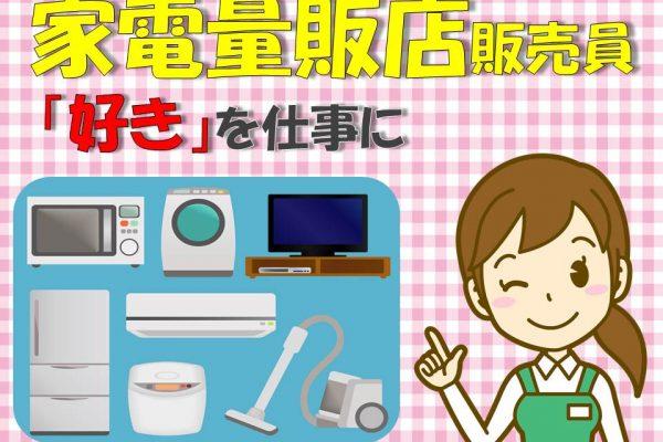 土日祝日のみスキマ時間に賢く働く家電量販店掃除機コーナー イメージ